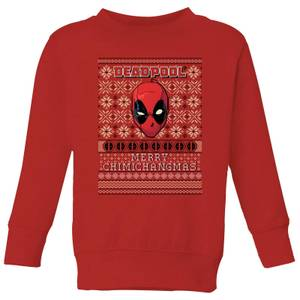 Marvel Deadpool Kids Christmas Sweatshirt - Red