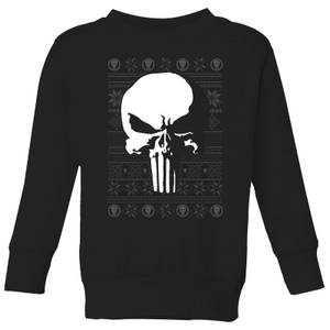 Marvel Punisher Kids Christmas Sweater - Black