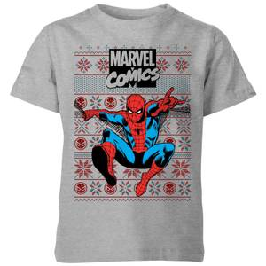 T-Shirt de Noël Homme Marvel Avengers Spider-Man Classique - Man Kids Christmas
