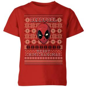 Marvel Deadpool Kids Christmas T-Shirt - Red
