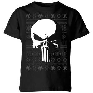 T-Shirt de Noël Homme Marvel Punisher - Noir