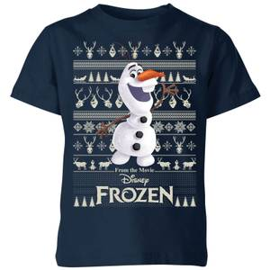 Disney Frozen Olaf Kids Christmas T-Shirt - Navy