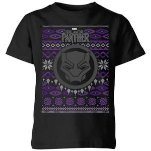 Marvel Avengers Black Panther Kinder T-Shirt - Zwart