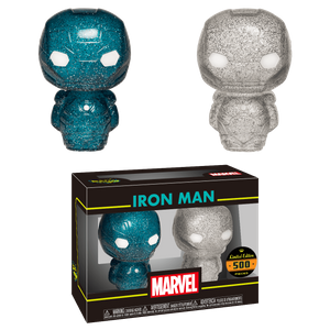 Marvel Iron Man Blue and Silver Hikari XS Vinyl Figure 2 Pack