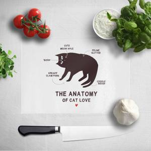 The Anatomy Of Cat Love Chopping Board