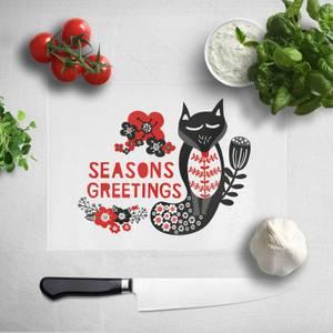 Season Greetings Chopping Board