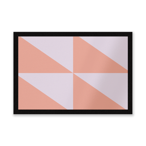 Geometric Pattern Entrance Mat