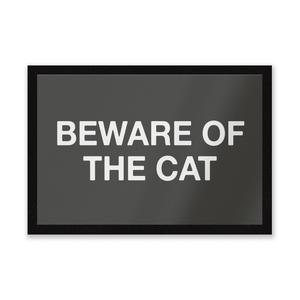 Beware Of The Cat Entrance Mat