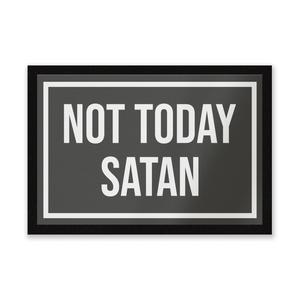 Not Today Satan Entrance Mat