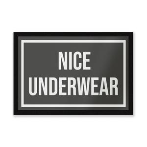 Nice Underwear Entrance Mat