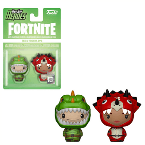 Lots de 2 Mini Figurine Pint Sized Heroes Funko - Fortnite - Rex & Tricera Ops