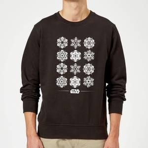 Star Wars Snowflake Pullover - Schwarz