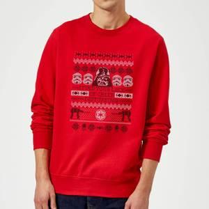 Pull de Noël Homme Star Wars I Find Your Lack Of Cheer Disturbing - Rouge