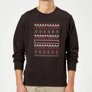 Felpa Star Wars On The Naughty List Pattern Christmas- Nero