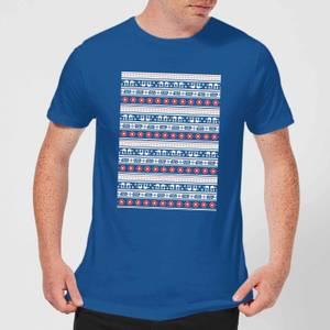 Star Wars AT-AT Pattern Mens T-Shirt - Royal Blau