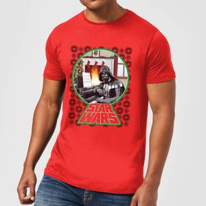 Star Wars A Very Merry Sithmas Mens T-Shirt - Rot