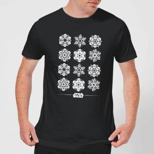 T-Shirt de Noël Homme Star Wars Snowflake - Noir