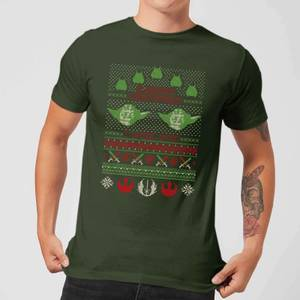 Star Wars Merry Christmas I Wish You Knit Mens T-Shirt - Dunkelgrün