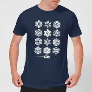 Star Wars Snowflake Men's Christmas T-Shirt - Navy