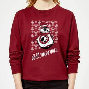 Star Wars Let The Good Times Roll Damen Pullover - Burgunderrot