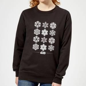 Star Wars Snowflake Damen Pullover - Schwarz