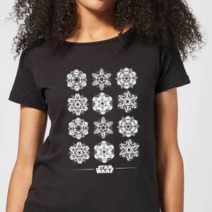 Star Wars Snowflake Women's Christmas T-Shirt - Black