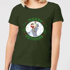 T-Shirt de Noël Femme Star Wars Merry Hothmas - Vert