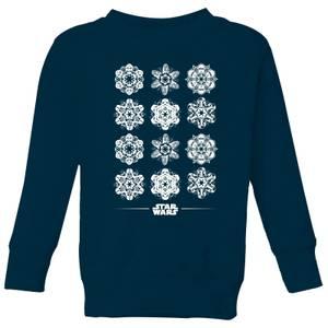 Star Wars Snowflake Kinder Pullover - Navy Blau