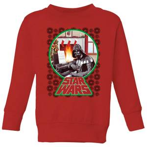 Star Wars A Very Merry Sithmas Kids Christmas Sweatshirt - Red