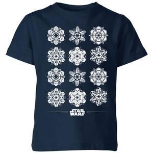 T-Shirt de Noël Homme Star Wars Snowflake - Bleu Marine