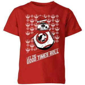Star Wars Let The Good Times Roll Kinder T-Shirt - Rot