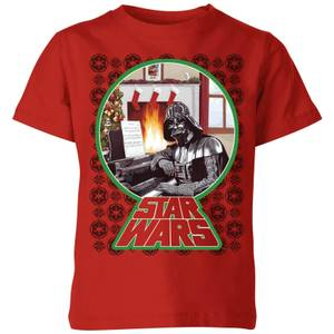 Star Wars A Very Merry Sithmas Kinder T-Shirt - Rot