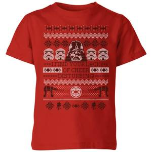 Star Wars I Find Your Lack Of Cheer Disturbing Kinder T-Shirt - Rot