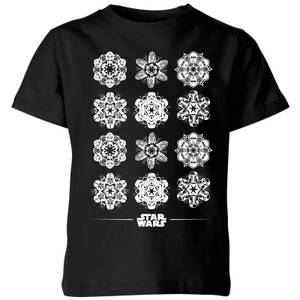 Star Wars Snowflake Kids Christmas T-Shirt - Black
