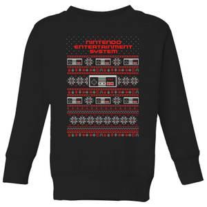 Felpa Nintendo NES Pattern Kid's Christmas - Nero
