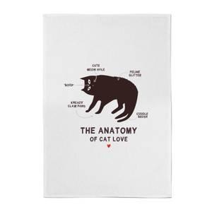 The Anatomy Of Cat Love Cotton Tea Towel