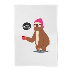 Good Morning Sloth Cotton Tea Towel