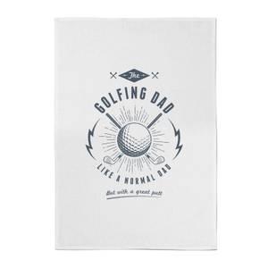 Golfing Dad Cotton Tea Towel