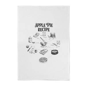 Apple Pie Recipe Cotton Tea Towel