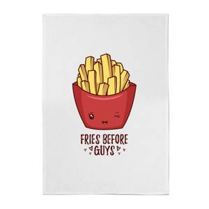 Fries Before Guys Cotton Tea Towel