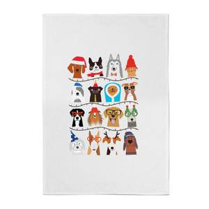 Dog Christmas Cotton Tea Towel