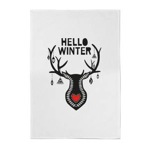 Hello Winter Cotton Tea Towel