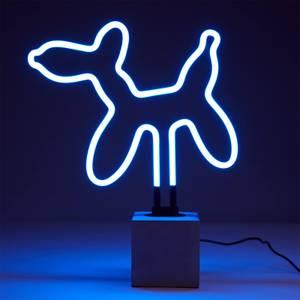 Exklusive Ballon-Hund-Neonleuchte - Betonsockel