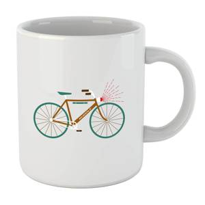 Rudolph Bike Christmas Mug
