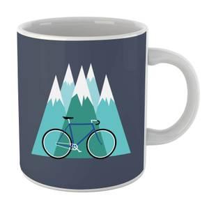 Bike and Mountains Christmas Mug
