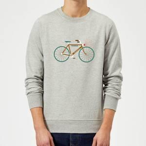 Rudolph Bike Christmas Sweatshirt - Grey