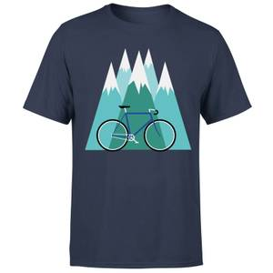 Bike and Mountains メンズ クリスマス T-シャツ - ネイビー