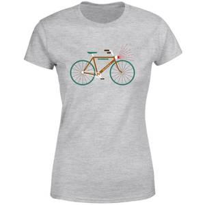 Rudolph Bike Women's Christmas T-Shirt - Grey