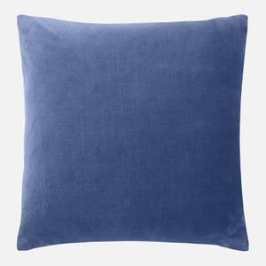in homeware Feather Filled Velvet Cushion - Blue