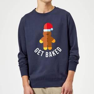 Get Baked Christmas Sweatshirt - Navy